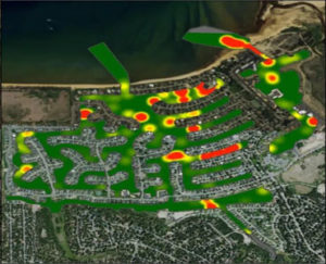 a heat map of the tahoe keys housing development